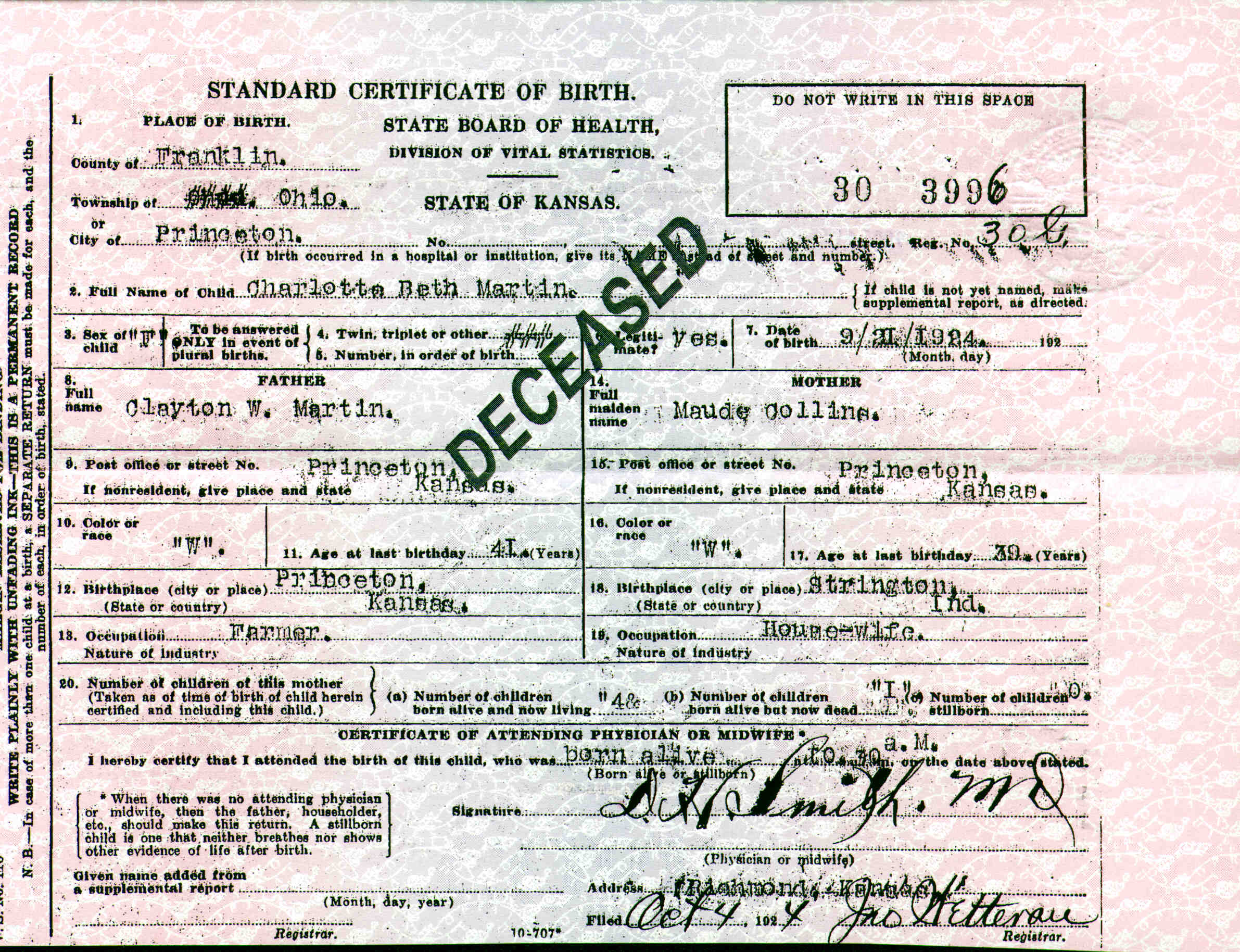 Descendants of jesse collins and charlotte victoria clark noted events in her life were birth baptismal certificate aiddatafo Choice Image