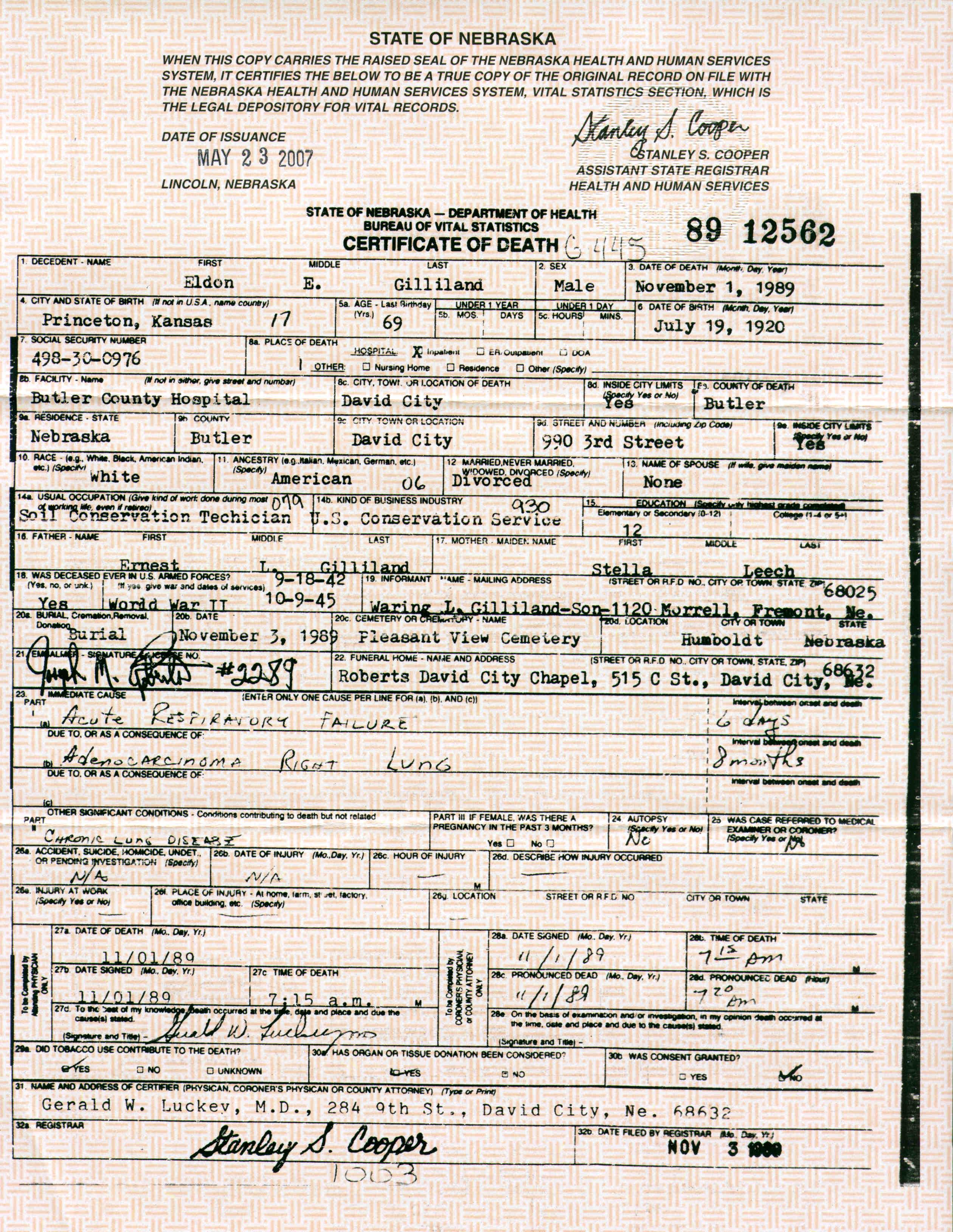 Descendants of jesse collins and charlotte victoria clark states death certificate aiddatafo Choice Image